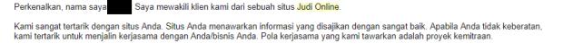 Tawaran Judi Online