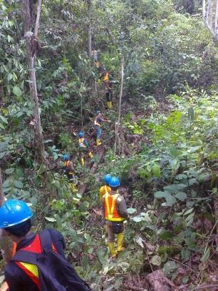 Survey Tata Batas di Hutan Berau