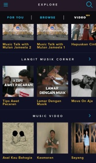 Menu Video LangitMusik