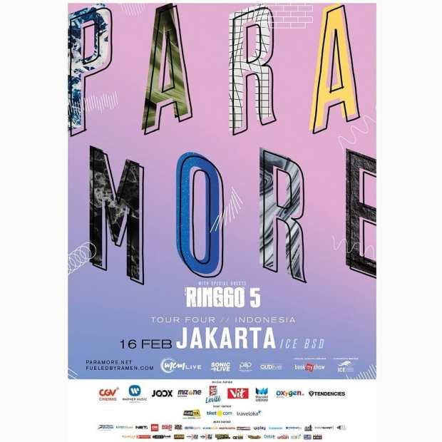 Poster Paramore Di Indonesia