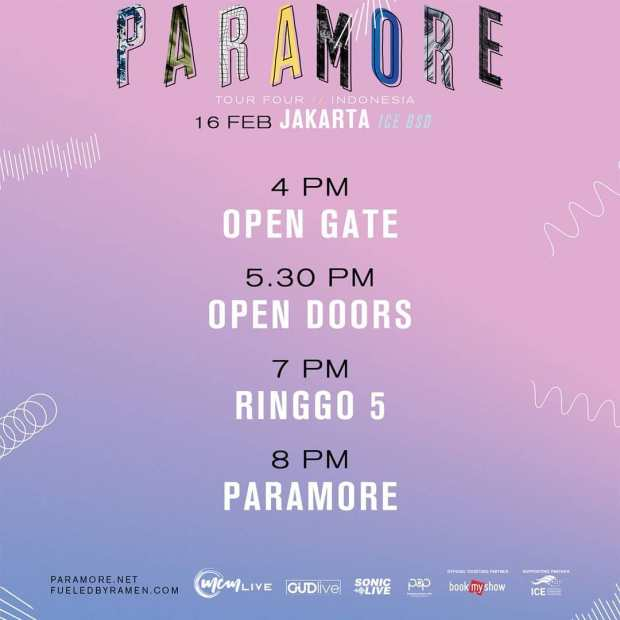 Rundown Paramore Di Indonesia
