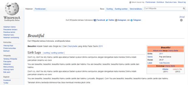 Beautiful Menurut Wikipedia