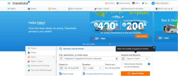 Home Traveloka