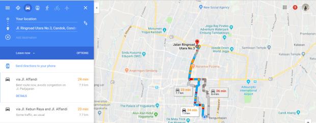 Map Dari Rumah ke Depok