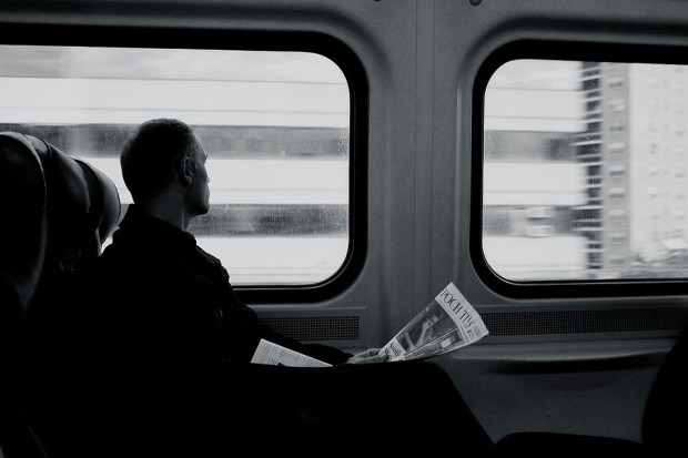 Membunuh waktu di Kereta