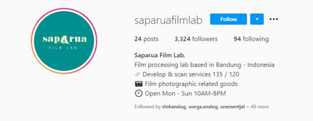 Saparua Film Lab Bandung