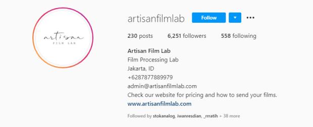 Tempat Cuci Film Artisan Film Lab
