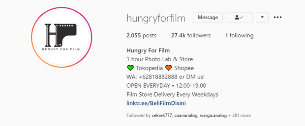 Tempat Cuci Film Hungry For Film