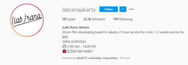 Tempat Cuci Film Labrana Jakarta