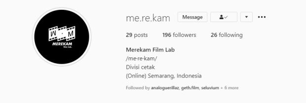 Tempat Cuci Film Merekam Semarang