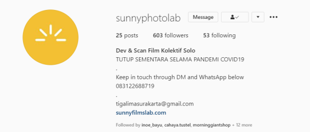 Tempat Cuci Film Solo Sunny Photo Lab