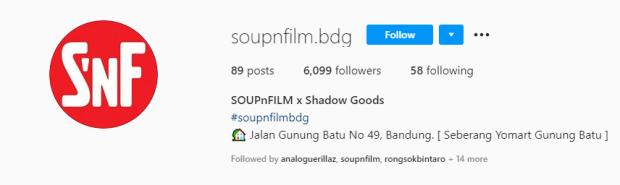 Tempat Cuci Film Soup N Film Bandung