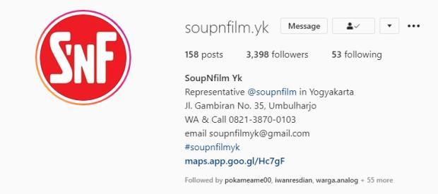 Tempat Cuci Film Soup N Film Jogja