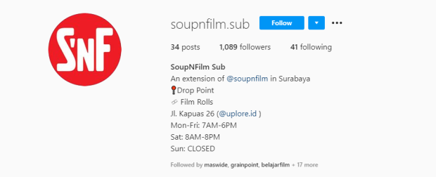 Tempat Cuci Film Soup N Film Surabaya