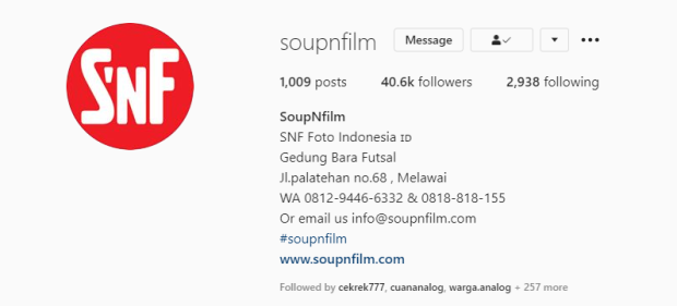 Tempat Cuci Film Soup n Film