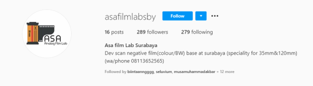 Tempat Cuci Film Surabaya ASA Film LAB