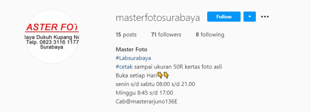 Tempat Cuci Film Surabaya Master Photo